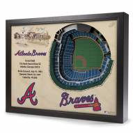 Atlanta Braves 25-Layer StadiumViews 3D Wall Art