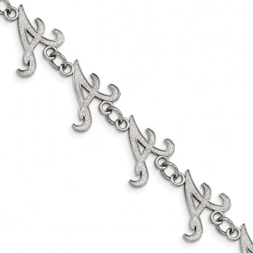 Atlanta Braves Stainless Steel Logo Bracelet