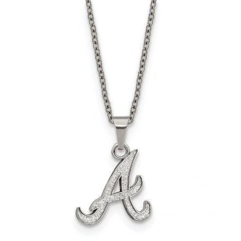 Atlanta Braves Stainless Steel Pendant Necklace
