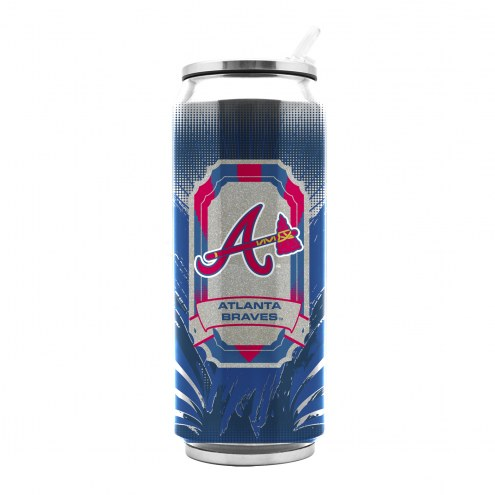Atlanta Braves Stainless Steel Thermo Can