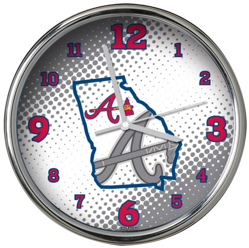 Atlanta Braves State of Mind Chrome Clock