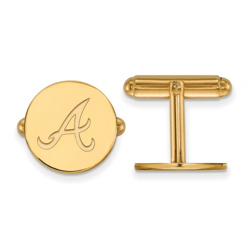 Atlanta Braves Sterling Silver Gold Plated Cuff Links