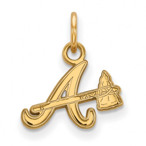 Atlanta Braves Sterling Silver Gold Plated Extra Small Pendant