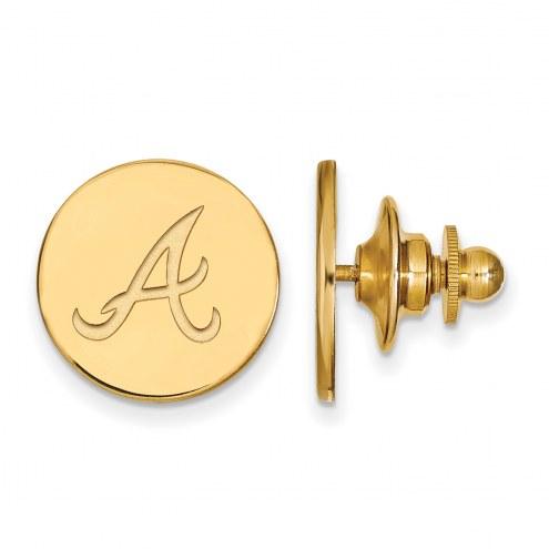 Atlanta Braves Sterling Silver Gold Plated Lapel Pin