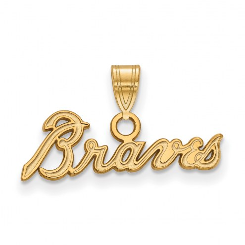 Atlanta Braves Sterling Silver Gold Plated Small Pendant