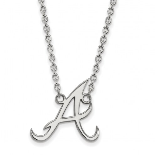 Atlanta Braves Sterling Silver Large Pendant Necklace