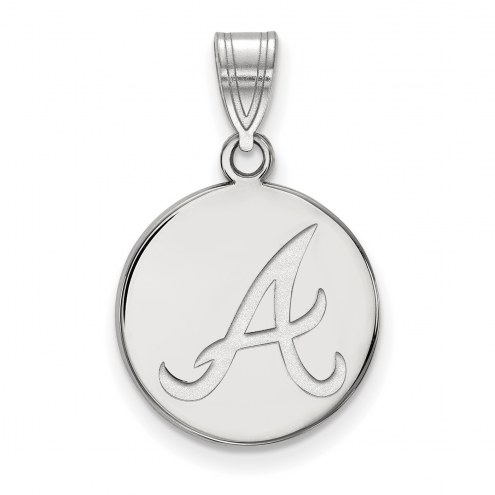 Atlanta Braves Sterling Silver Medium Disc Pendant