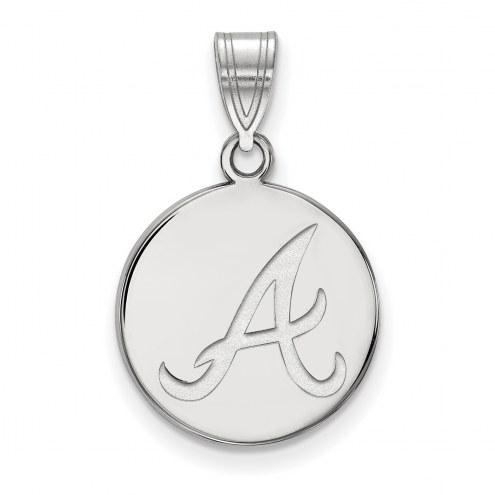 Atlanta Braves Sterling Silver Medium Disc Pendant