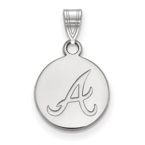 Atlanta Braves Sterling Silver Small Disc Pendant