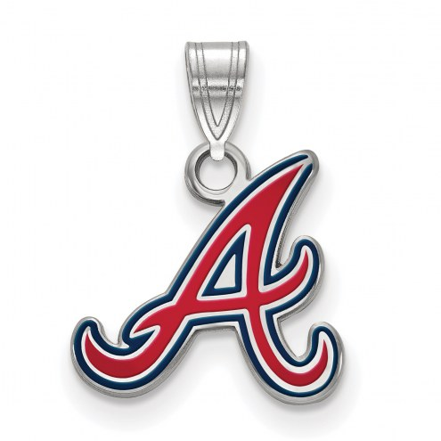 Atlanta Braves Sterling Silver Small Enamel Pendant