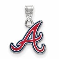 Atlanta Braves Sterling Silver Small Enamel Pendant