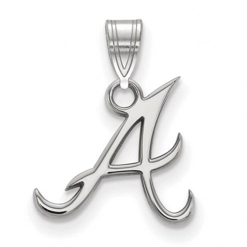 Atlanta Braves Sterling Silver Small Pendant