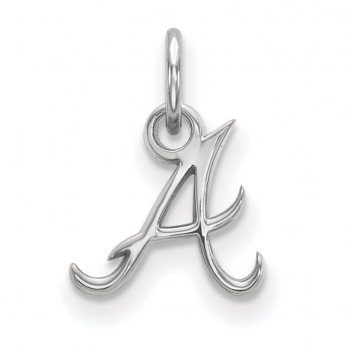 Atlanta Braves Sterling Silver Extra Small Pendant