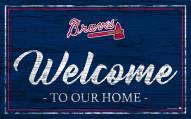 Atlanta Braves Team Color Welcome Sign