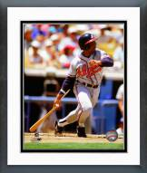 Atlanta Braves Terry Pendleton 1991 Action Framed Photo