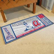 Atlanta Braves Ticket Runner Rug
