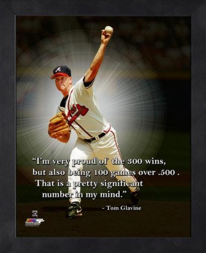 Atlanta Braves Tom Glavine Framed Pro Quote