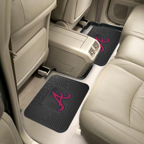 Atlanta Braves Vinyl 2-Piece Rear Floor Mats