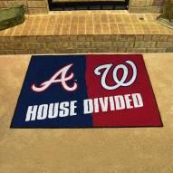 Atlanta Braves/Washington Nationals House Divided Mat