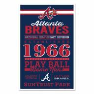 Atlanta Braves Established Wood Sign