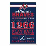 Atlanta Braves Established Wood Sign