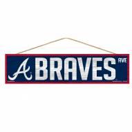 Atlanta Braves Wood Avenue Sign