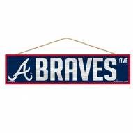 Atlanta Braves Wood Avenue Sign