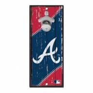 Atlanta Braves Wood Bottle Opener