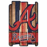 Atlanta Braves Wood Fence Sign