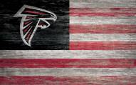 "Atlanta Falcons 11"" x 19"" Distressed Flag Sign"