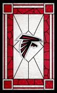 """Atlanta Falcons 11"""" x 19"""" Stained Glass Sign"""