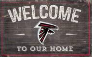 """Atlanta Falcons 11"""" x 19"""" Welcome to Our Home Sign"""