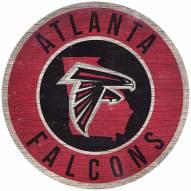 """Atlanta Falcons 12"""" Circle with State Sign"""