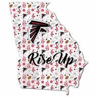 "Atlanta Falcons 12"" Floral State Sign"