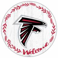 """Atlanta Falcons 12"""" Welcome Circle Sign"""