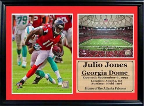 "Atlanta Falcons 12"" x 18"" Julio Jones Photo Stat Frame"
