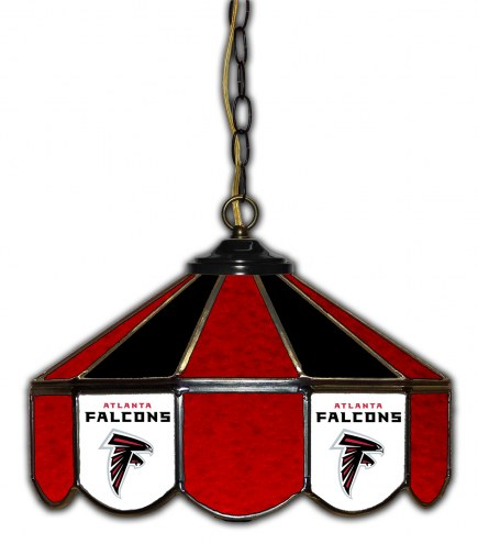 "Atlanta Falcons 14"" Glass Pub Lamp"