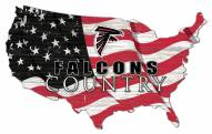 "Atlanta Falcons 15"" USA Flag Cutout Sign"