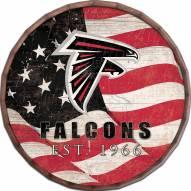 """Atlanta Falcons 16"""" Flag Barrel Top"""