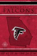 """Atlanta Falcons 17"""" x 26"""" Coordinates Sign"""