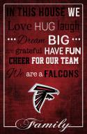 """Atlanta Falcons 17"""" x 26"""" In This House Sign"""