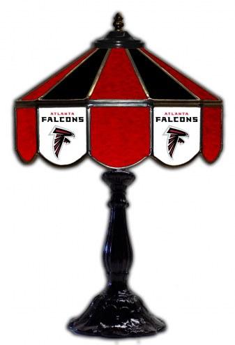"Atlanta Falcons 21"" Glass Table Lamp"