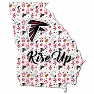 "Atlanta Falcons 24"" Floral State Sign"