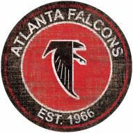 "Atlanta Falcons 24"" Heritage Logo Round Sign"