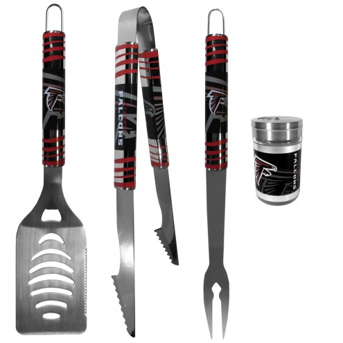 Atlanta Falcons 3 Piece Tailgater BBQ Set and Season Shaker