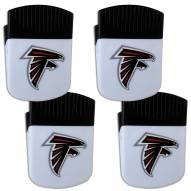 Atlanta Falcons 4 Pack Chip Clip Magnet with Bottle Opener