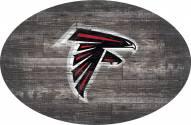 "Atlanta Falcons 46"" Distressed Wood Oval Sign"