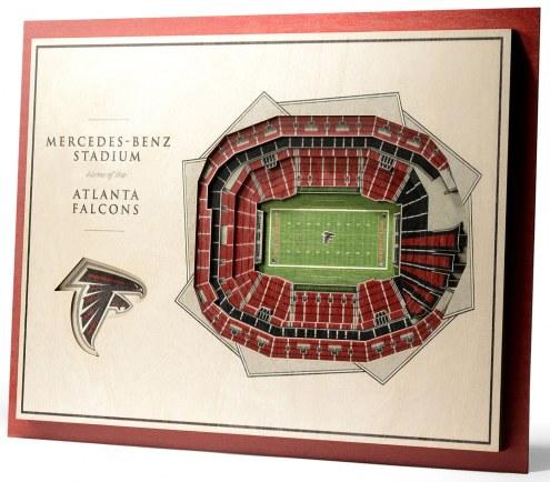 Atlanta Falcons 5-Layer StadiumViews 3D Wall Art