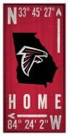 """Atlanta Falcons 6"""" x 12"""" Coordinates Sign"""