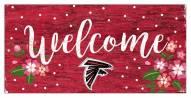 "Atlanta Falcons 6"" x 12"" Floral Welcome Sign"